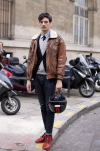 Street Fashion at Paris Men's Fashion Week FW12